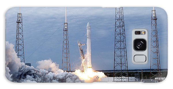 Galaxy Case featuring the photograph Spacex-2 Mission Launch Nasa by Rose Santuci-Sofranko