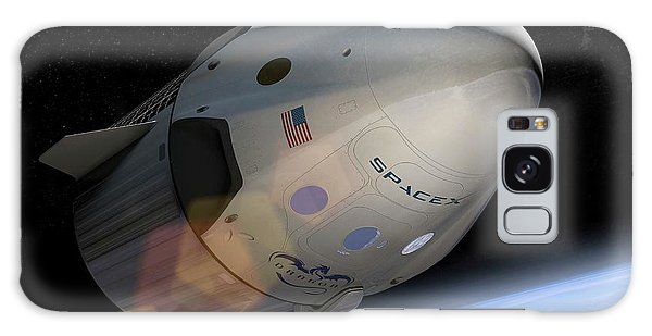 Spacex's Crew Dragon In Orbit Galaxy Case