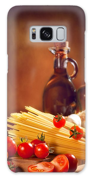 Spaghetti Pasta With Tomatoes And Garlic Galaxy Case by Amanda Elwell