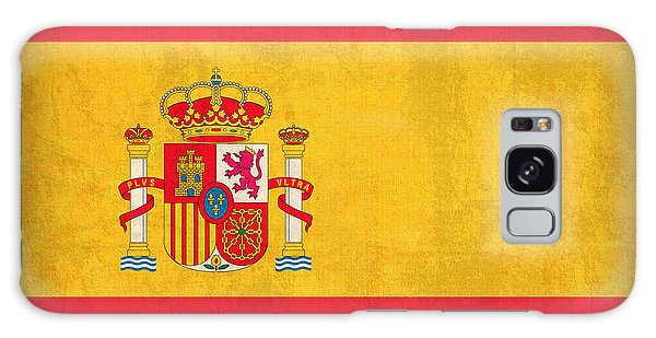 Spain Flag Vintage Distressed Finish Galaxy Case