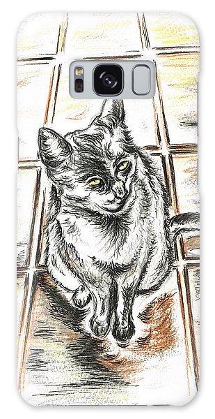 Spanish Cat Waiting Galaxy Case by Teresa White