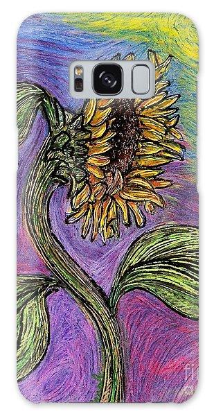 Spanish Sunflower Galaxy Case by Sarah Loft