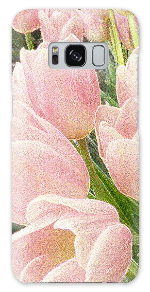 Sparkling Tulips Galaxy Case