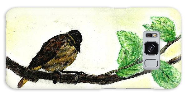 Sparrow On A Branch Galaxy Case