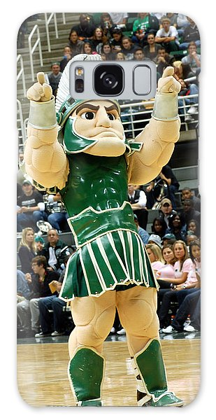 Sparty At Basketball Game  Galaxy Case