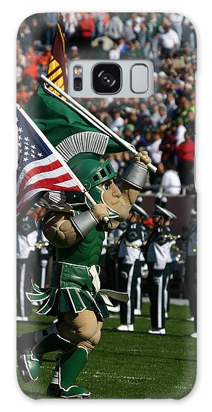 Sparty At Football Game Galaxy Case
