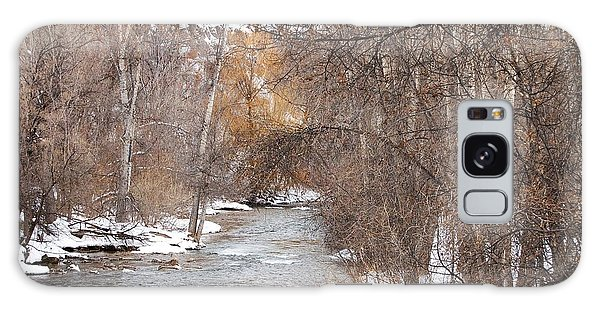 Spearfish Creek In Winter Galaxy Case