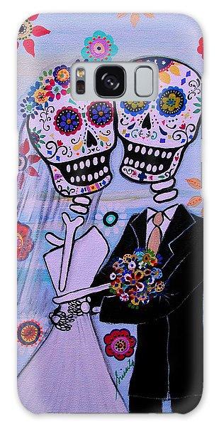 Special Day Dia De Los Muertos Wedding Galaxy Case