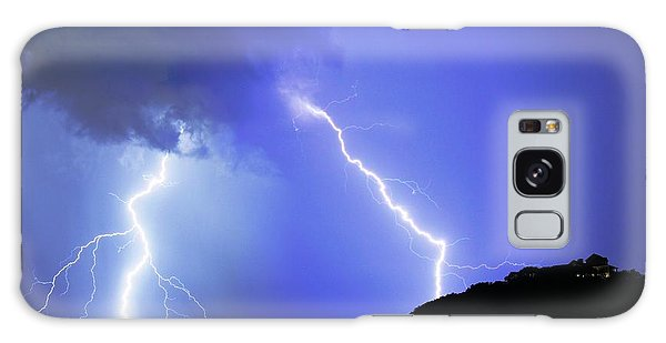 Spectacular Double Lightning Strike Galaxy Case