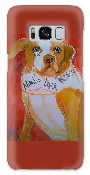 Spencer The Pit Bull Galaxy Case by Gertrude Palmer