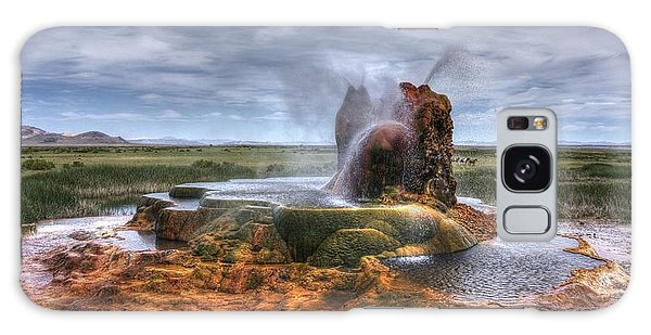 Spewing Minerals At Fly Geyser Galaxy Case by Peter Thoeny