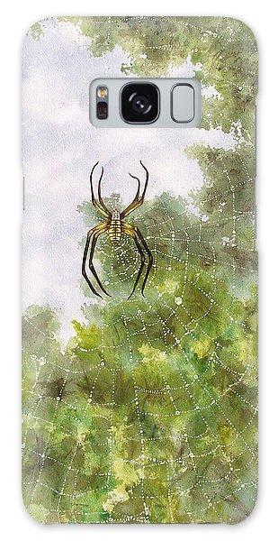 Spider In Web #2 Galaxy Case