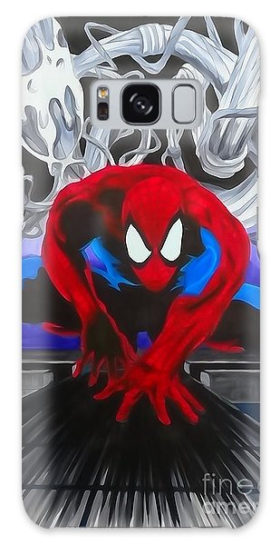 Spider-man Watercolor Galaxy Case by Justin Moore