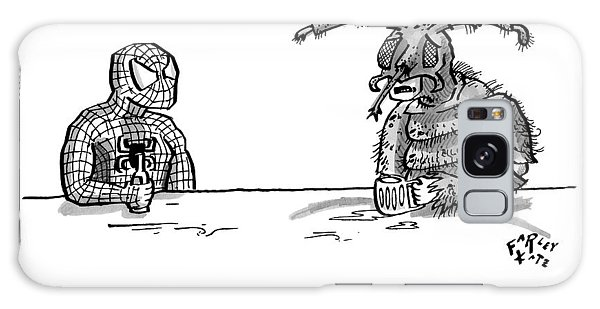 Spiderman And Bedbug Man Are Seen Speaking Galaxy Case