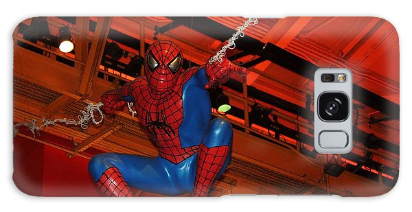 Spiderman Swinging Through The Air Galaxy Case