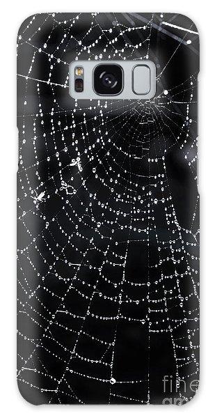 Halloween Galaxy Case - Spiderweb by Elena Elisseeva
