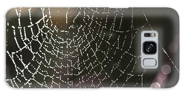 Spiderweb Green Galaxy Case by Artist and Photographer Laura Wrede