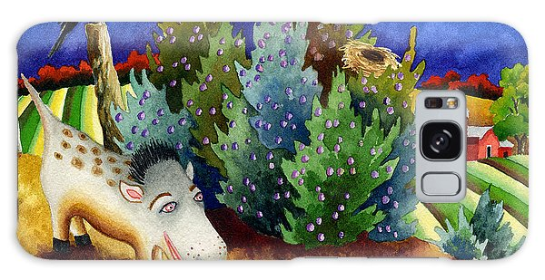 Farmland Galaxy Case - Spike The Dhog Meets A Magpie by Anne Gifford