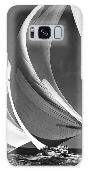Wind Power Galaxy Case - Spinakers On Racing Sailboats by Underwood Archives