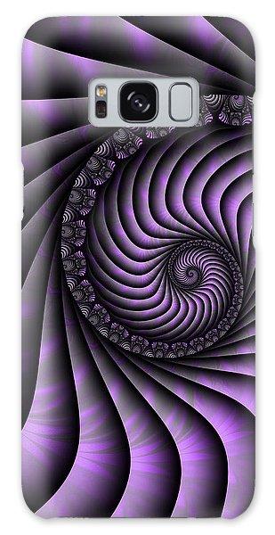 Spiral Purple And Grey Galaxy Case by Gabiw Art