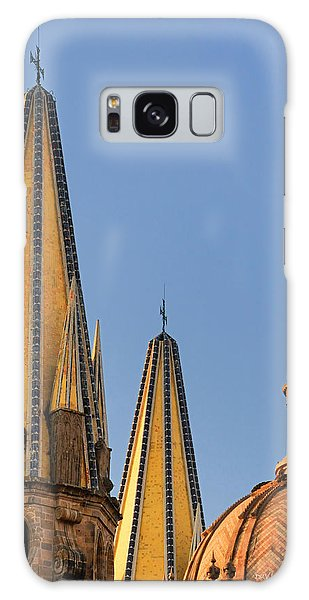 Spires And Dome - Cathedral Of Guadalajara Mexico Galaxy Case by David Perry Lawrence