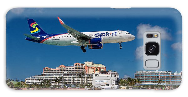 Spirit Airlines Low Approach To St. Maarten Galaxy Case