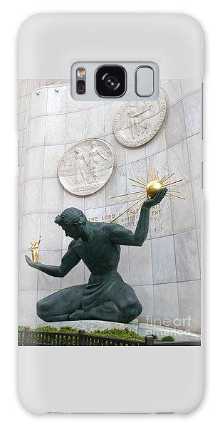 Spirit Of Detroit Monument Galaxy Case