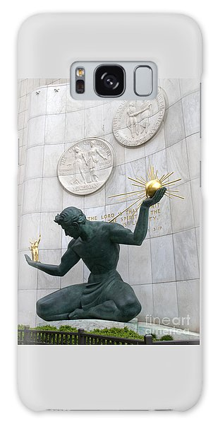 Spirit Of Detroit Monument Galaxy Case