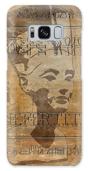 Spirit Of Nefertiti Egyptian Queen   Galaxy Case
