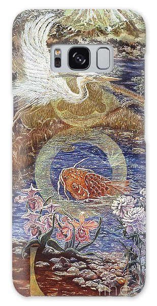 Galaxy Case featuring the painting Spirit Rising by Gail Allen