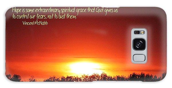 Spiritual Grace Galaxy Case by Erica Hanel