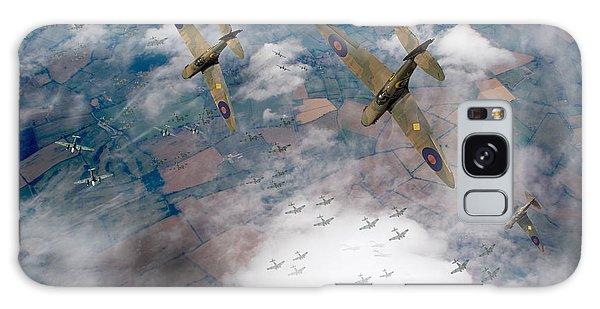 Raf Spitfires Swoop On Heinkels In Battle Of Britain Galaxy Case by Gary Eason
