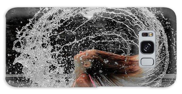 Hair Flip Splash Galaxy Case by Brian Caldwell