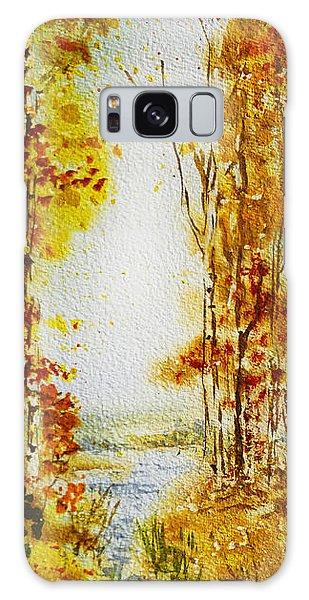 Maple Leaf Art Galaxy Case - Splash Of Fall by Irina Sztukowski