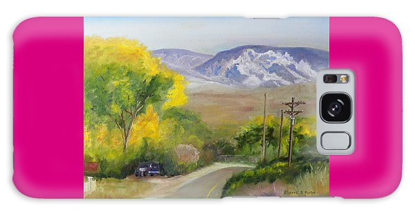 Split Mountain On Golf Course Road Galaxy Case by Sherril Porter