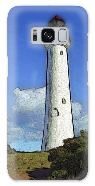 Split Point Lighthouse Galaxy Case by Dennis Lundell