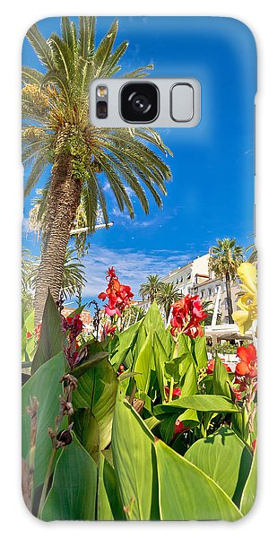 Split Riva Palms And Flowers Galaxy Case