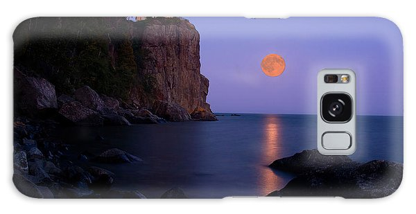 Split Rock Lighthouse - Full Moon Galaxy Case