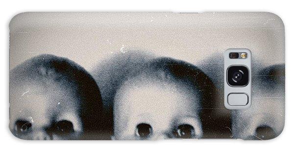 Spooky Doll Heads Galaxy Case