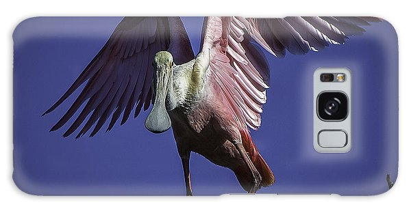 Galaxy Case featuring the photograph Spoonbill Balancing Act by Donald Brown