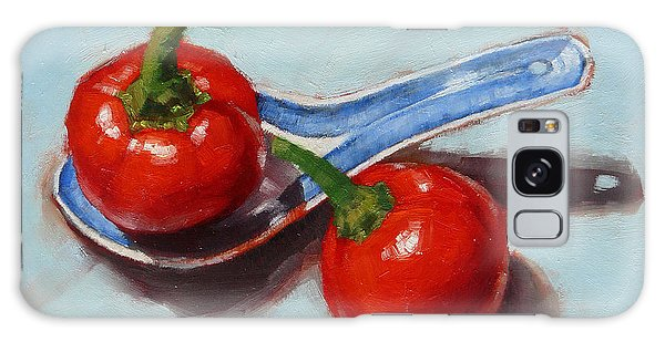 Spoonful Of Chilli Galaxy Case by Margaret Stockdale
