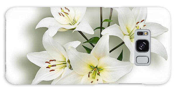 Spray Of White Lilies Galaxy Case by Jane McIlroy