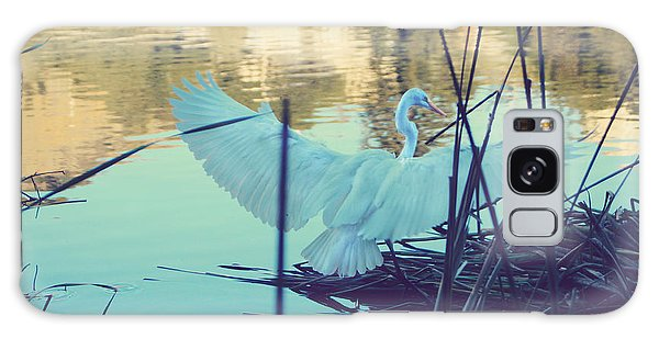 Egret Galaxy Case - Spread Those Wings And Fly by Laurie Search