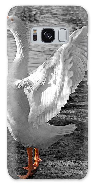 Spread Your Wings B And W Galaxy Case by Lisa Phillips