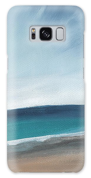 Iphone Case Galaxy Case - Spring Beach- Contemporary Abstract Landscape by Linda Woods