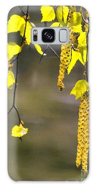 Spring Birch Buds Paint Galaxy Case