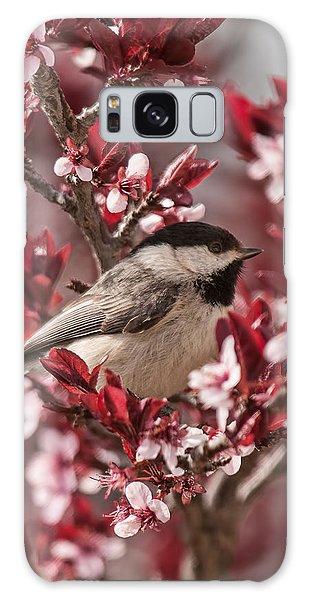 Spring Blossom Chickadee Galaxy Case