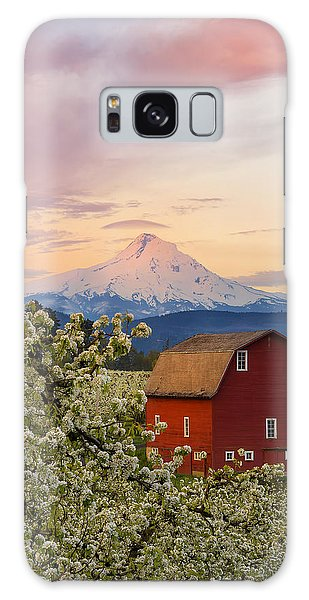 Spring Blossoms Sunrise Galaxy Case