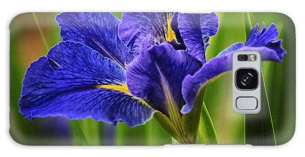 Spring Blue Iris Galaxy Case