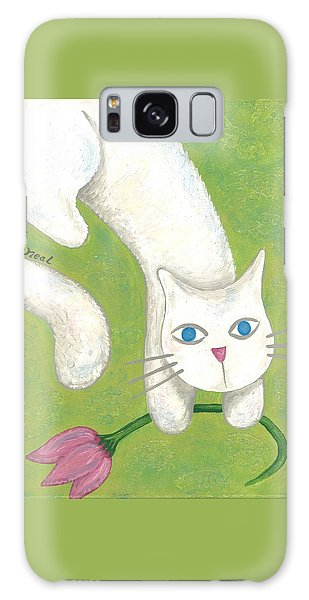 Spring Cat Galaxy Case